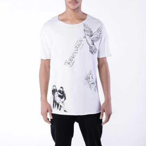 残り1点【DEFEND PARIS】FARO Tシャツ/WHITE