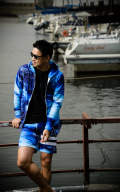 WAVE RASH  ZIP PARKA BLUE RC8-C-002
