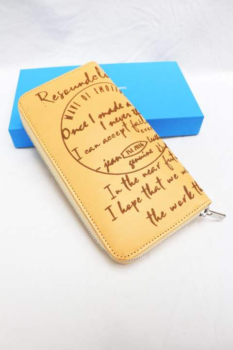 【RESOUND CLOTHING】Buttero Leather calligraphy wallet/NATURAL