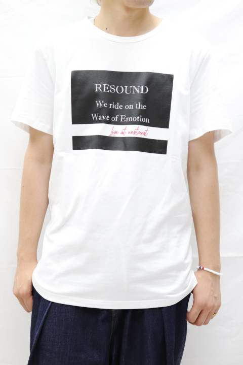 【RESOUND CLOTHING】WAVE T SHIRT WHITE RC9-T-003 RESOUND CLOTHING