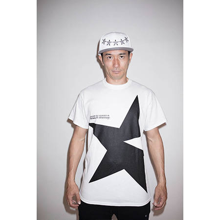 【MADE IN WORLD☆&CO】crew neck tee(big star)/white