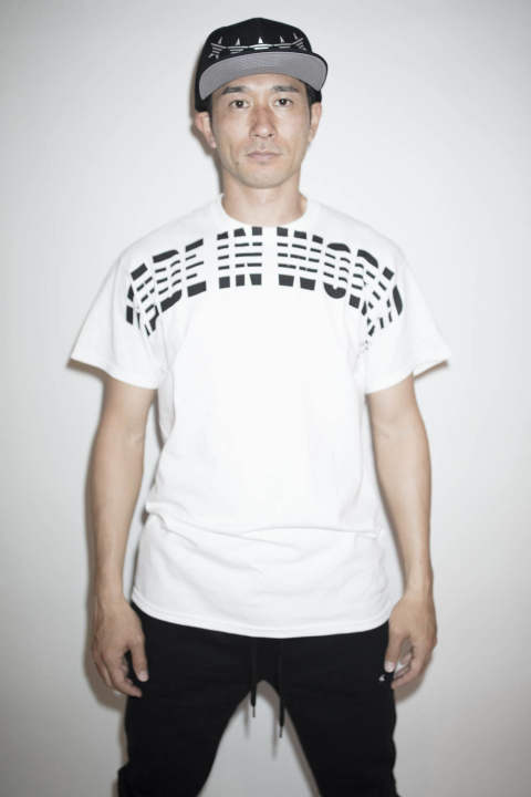 【MADE IN WORLD☆&CO】crew neck tee(arch) /WHITE