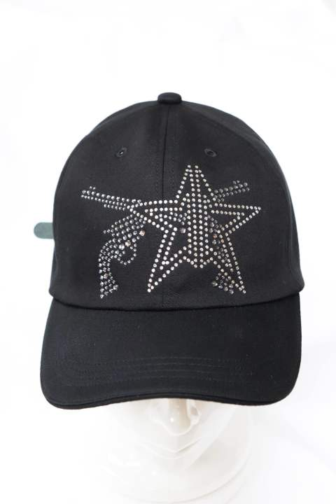 【KAZUYUKI KUMAGI×roarguns】 コラボBASEBALL CAP KNIT DENIM PISTOL STAR SWAROVSKI