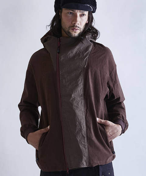【EGO TRIPPING】CORDSTRETCH HOOD JACKET/RENGA