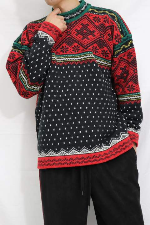 〔Iroquois〕MIX YARN SNOW JQ/RED