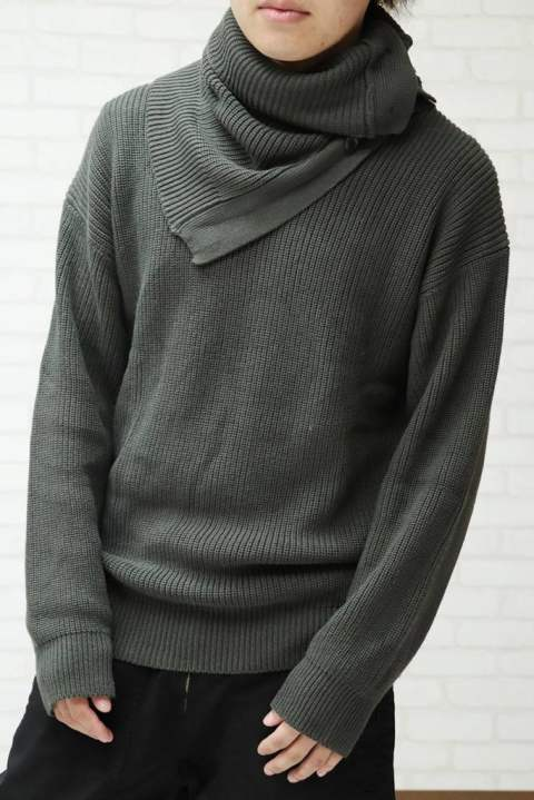 【EGO TRIPPING】VEIL KNIT ニット/GRAY