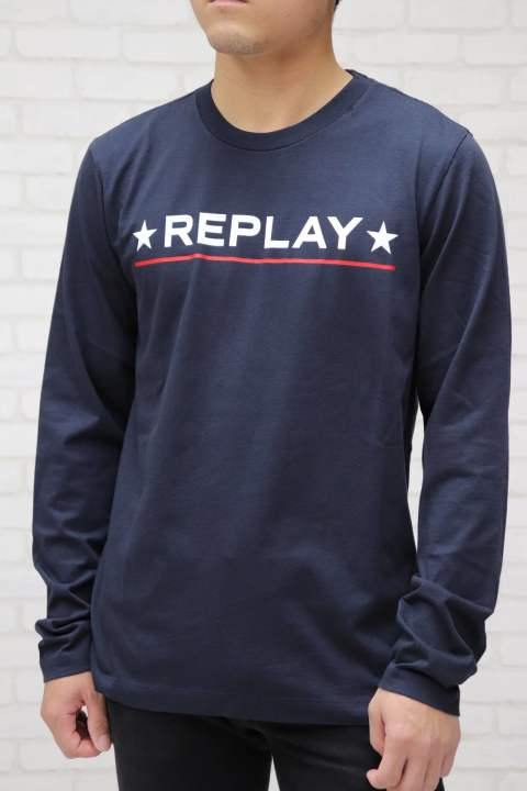 【REPLAY】long sleeve T-shirt/NAVY