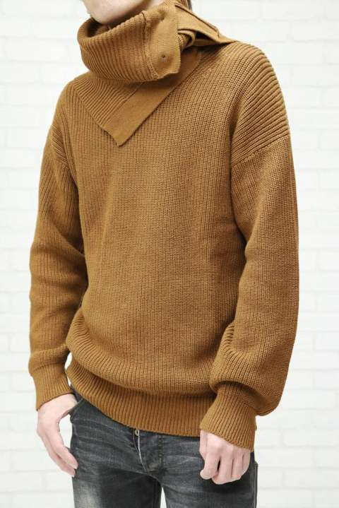 【EGO TRIPPING】VEIL KNIT ニット/BROWN