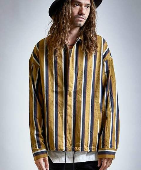 【EGO TRIPPING】STRIPE SWINGTOP/MUSTARD