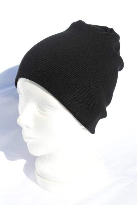 【wjk】simple knit cap/BLACK