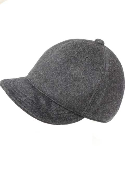 【EGO TRIPPING】CASHMERE WOOL CYCLINGCAP/moku.CHARCOAL