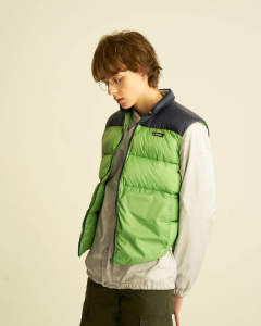 【GERRY】HIGH DENSITY SWITCHING DOWN VEST/GREEN