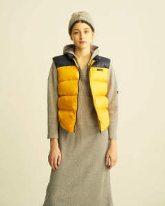 【GERRY】HIGH DENSITY SWITCHING DOWN VEST/YELLOW