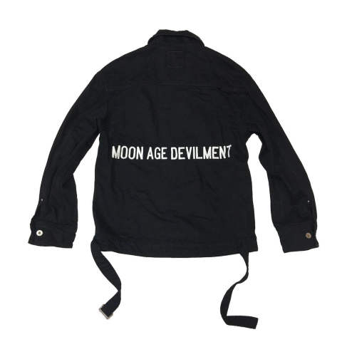 【MOON AGE DEVILMENT×EGO TORIPPING】【予約】 Embroidery Over DENIM JACKET/BLACK