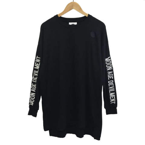 【MOON AGE DEVILMENT】【予約】 Embroidery Over L/S T-Shirts/BLACK