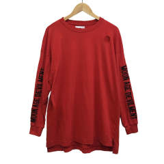 【MOON AGE DEVILMENT】【予約】 Embroidery Over L/S T-Shirts/RED