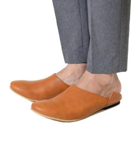 【Iroquois】【予約】''BABOUCHE''LEATHER FLAT-SHOES/CAMEL