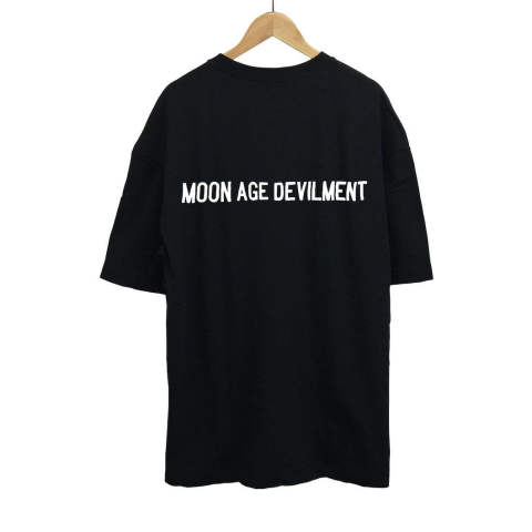 Embroidery Over T-Shirts/BLACK【MOON AGE DEVILMENT】