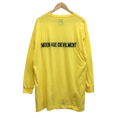 【MOON AGE DEVILMENT】【予約】 Embroidery Over L/S T-Shirts/YELLOW