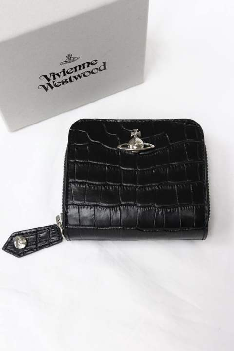 【Vivienne Westwood】 ALEX MEDIUM ZIP WALLET/BLACK