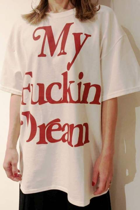 【M】crew neck BIG t-shirts (BIG My Fuckin' Dream) / white