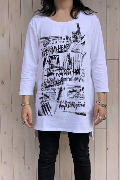 KNIFE IN HEART  L/TEE WHITE No.1901102 【SWITCH BLAD】