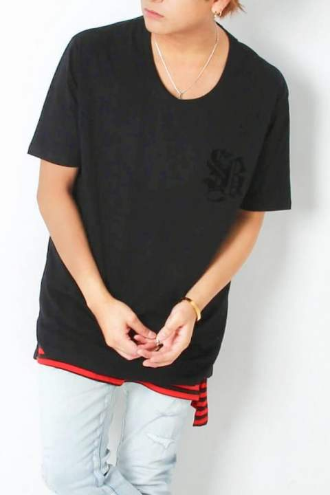 MALIA TEE [BLACK] 【SWITCH BLADE】