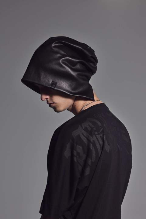 Stretch Leather  Cap【kiryuyrik】