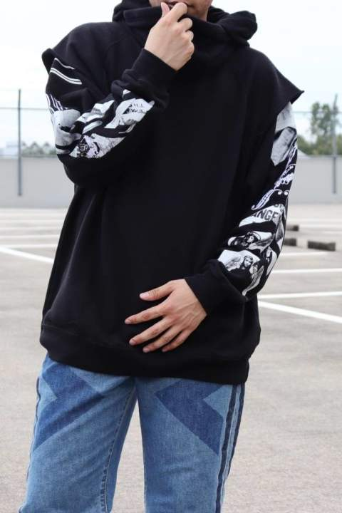 MIXED RACE HOODIE/BLACK【Iroquois】