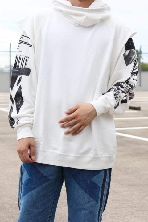 MIXED RACE HOODIE/WHITE【Iroquois】