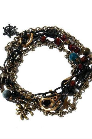 2WAY Pirate's Necklace Bracelet / BLACK 2902714