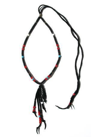 Peacock Feather Beads ネックレス / BLACK 2902713