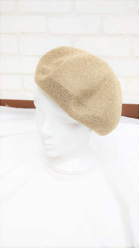 MELANGE BASQUE BERET/ベージュ【Iroquois】