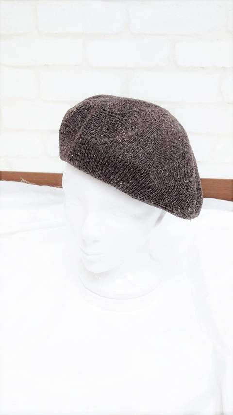 MELANGE BASQUE BERET/ブラウン【Iroquois】