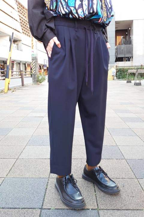WORSTED T/R 2WAY 2TUCK PT/ネイビー【Iroquois】