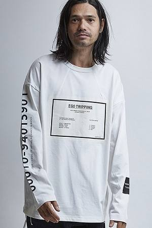 PASTING PINCH TEE T/WHITE【EGO TRIPPING】