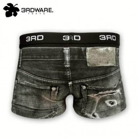 Damage Denim black 219101302[3RDWARE] ボクサーパンツ