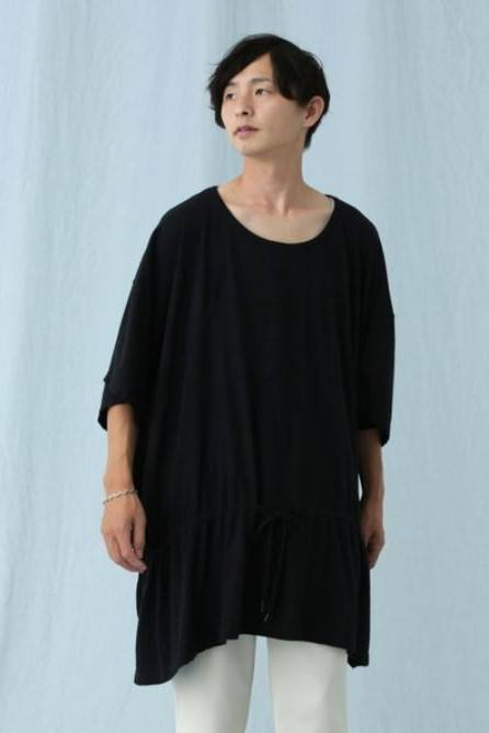 PATCHWORK PONCHO/BLACK【Iroquois】