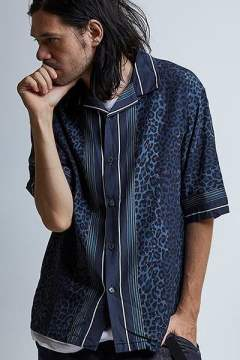 EGO×PROPA LEOPARD ALOHASHIRTS S-S / NAVY 【EGO TRIPPING】