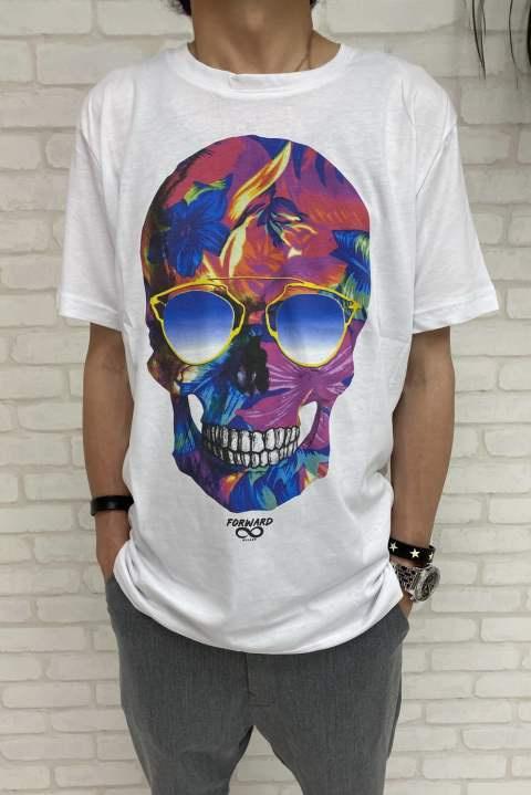 アロハポップアートTシャツ SKULL  【Forward MILANO】 03026 Forward MILANO